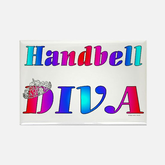 Handbell Diva Rectangle Magnet
