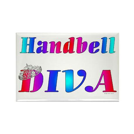 Handbell Diva Rectangle Magnet (10 pack)