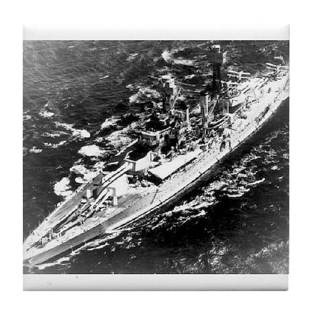 USS West Virginia Ship's Image Tile Coaster