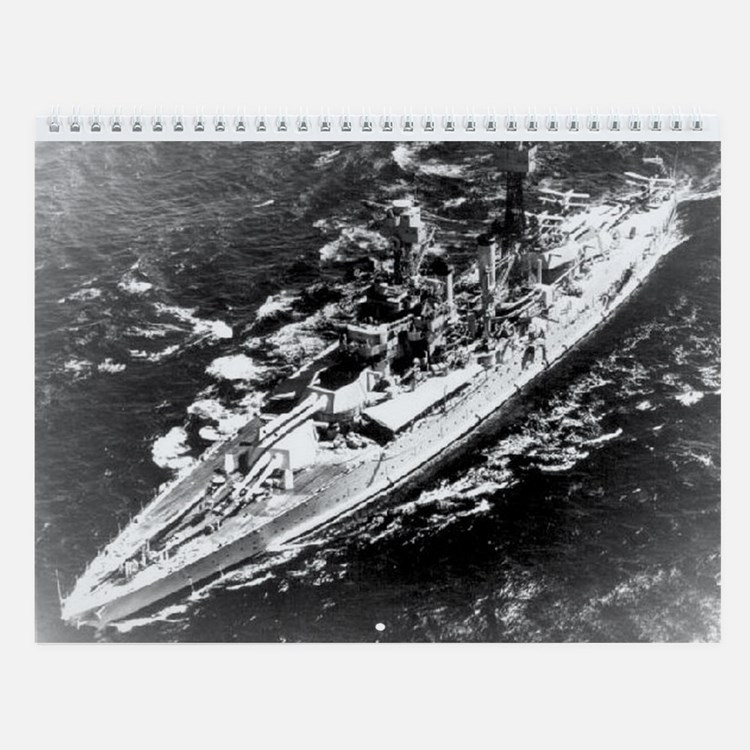 USS West Virginia Ship's Image Wall Calendar