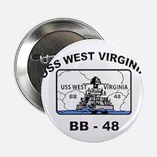USS West Virginia BB 48 Button