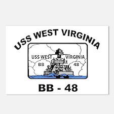 USS West Virginia BB 48 Postcards (Package of 8)