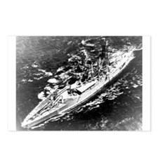 USS West Virginia Ship's Image Postcards (Pk of 8)