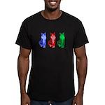 3 Pop art cats Men's Fitted T-Shirt (dark)
