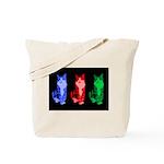 3 Pop art cats Tote Bag