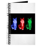 3 Pop art cats Journal