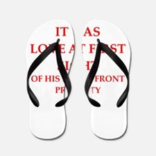 Funny joke on gifts and t-shirts. Flip Flops