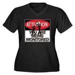 You Are Being Monitored Women's Plus Size V-Neck D