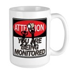 You Are Being Monitored Large Mug