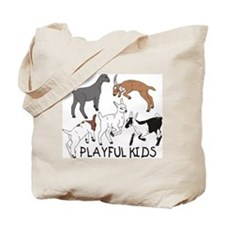 Playful Goat Kids Tote Bag