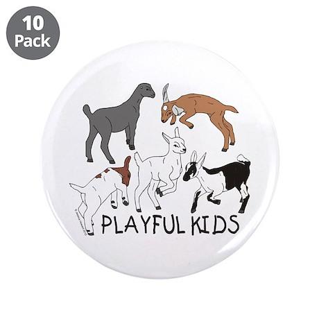 "Playful Goat Kids 3.5"" Button (10 pack)"
