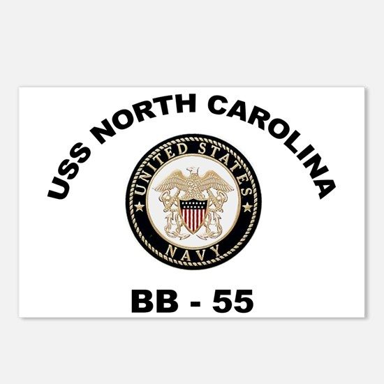 USS North Carolina BB 55 Postcards (Package of 8)