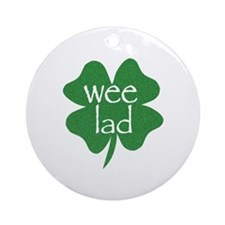 Wee Lad Irish Ornament (Round)