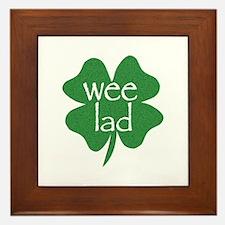 Wee Lad Irish Framed Tile