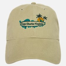 Baseball Baseball Cape Charles VA - Surf Design Baseball Baseball Cap