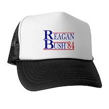 Reagan Bush 1984 Trucker Hat