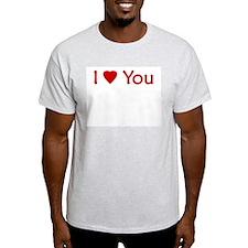 I Love You - Ash Grey T-Shirt