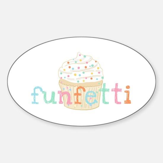 Vanilla Funfetti - Sticker (Oval)