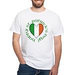 Tricolour Heart White T-Shirt