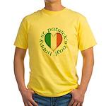 Tricolour Heart Yellow T-Shirt