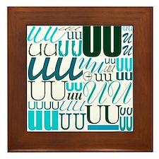 UU Typography (Aqua) Framed Tile