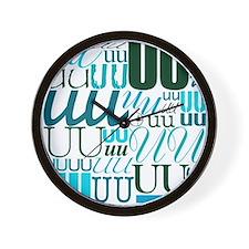 UU Typography (Aqua) Wall Clock