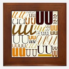 UU Typography (Autumn) Framed Tile
