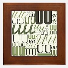 UU Typography (Sage) Framed Tile