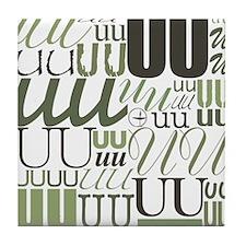 UU Typography (Sage) Tile Coaster