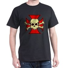 Skull Templar Black T-Shirt
