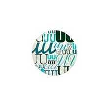 UU Typography (Aqua) Mini Button