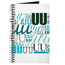 UU Typography (Aqua) Journal