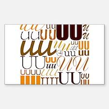 UU Typography (Autumn) Stickers