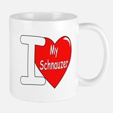 I Love My Schnauzer Mug