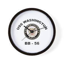 USS Washington BB 56 Wall Clock