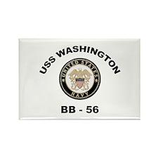USS Washington BB 56 Rectangle Magnet