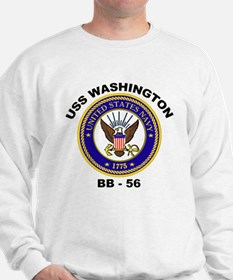 USS Washington BB 56 Sweatshirt