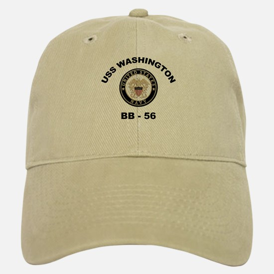 USS Washington BB 56 Baseball Baseball Cap