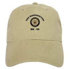 USS Washington BB 56 Baseball Cap