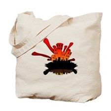 Unique Fire guy Tote Bag