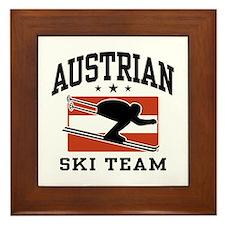 Austrian Ski Team Framed Tile