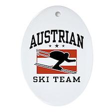 Austrian Ski Team Ornament (Oval)