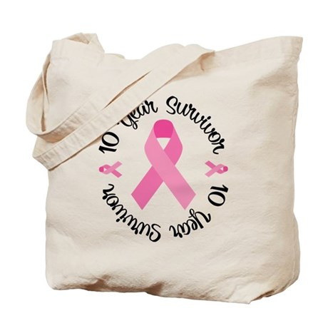 10 Year Survivor Tote Bag