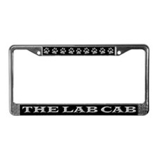 Black Lab Cab License Plate Frame
