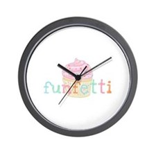 Pink Funfetti Cupcake - Wall Clock