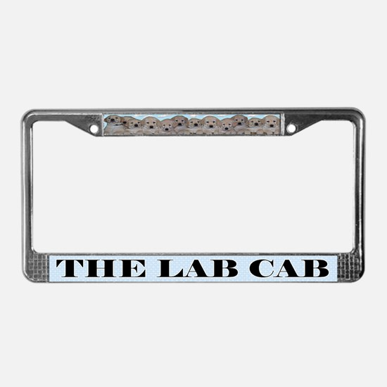 Yellow Lab Puppy License Plate Frame