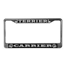 Terrier Carrier License Plate Frame