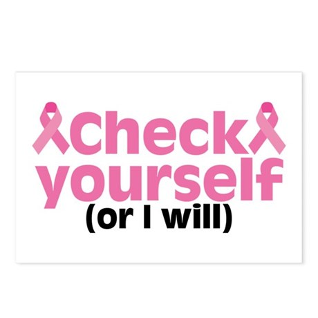 Check Yourself Postcards (Package of 8)