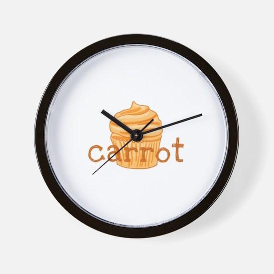 Carrot Cupcake - Wall Clock