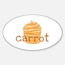Carrot Cupcake - Sticker (Oval)